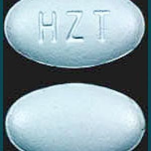 HZT Blue Color Oval/Elliptical Shape [Duexis] –  Pill Identifier