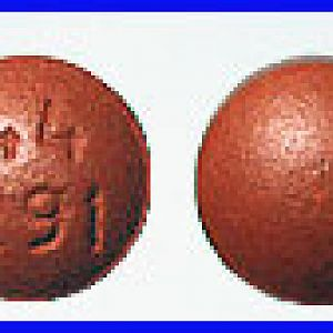 44 291 Pill Brown color Round Shape – [Ibuprofen] Pill Identifier