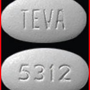 TEVA 5312 White color Oval/ Elliptical Shape – [Ciprofloxacin] Pill Identifier